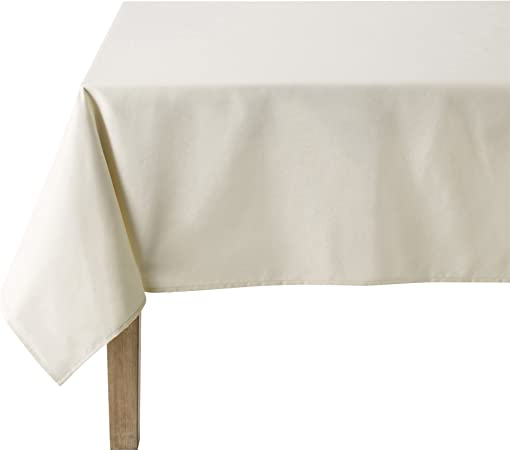 Coucke-Mantel Rectangular, algodón, Blanco Crema, 180 x 300 cm: Amazon.es: Hogar