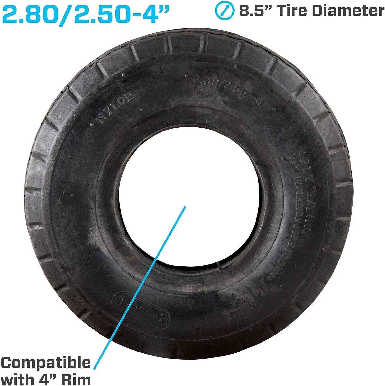 4.80//4.00-8 Wheelbarrow Tyre /& Inner Tube X2 4PR Block Tread FAST 2 DAY DELIVERY