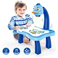 * Sale - 70% off Limited Time Offer * Hakea Kids Drawing Toy Project Print Toy - Kids Learning Smart Projector - Fun Art Tracer - Exciting Design - Draw Like a Pro - Educational Objective - Brain Developing Toy - Kids Education - Coloring and Painting - Blue Colour