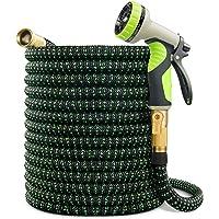 VIENECI 100ft Garden Hose Expandable Hose, Durable Flexible Water Hose, 9 Function Spray Hose Nozzle, Solid Brass…