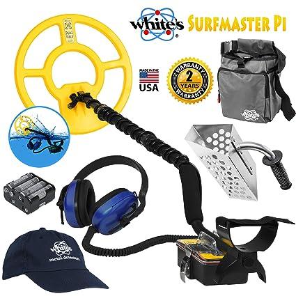 Amazon.com : Whites Surfmaster PI Dual Field Underwater Detector Bundle w/Accessories : Garden & Outdoor