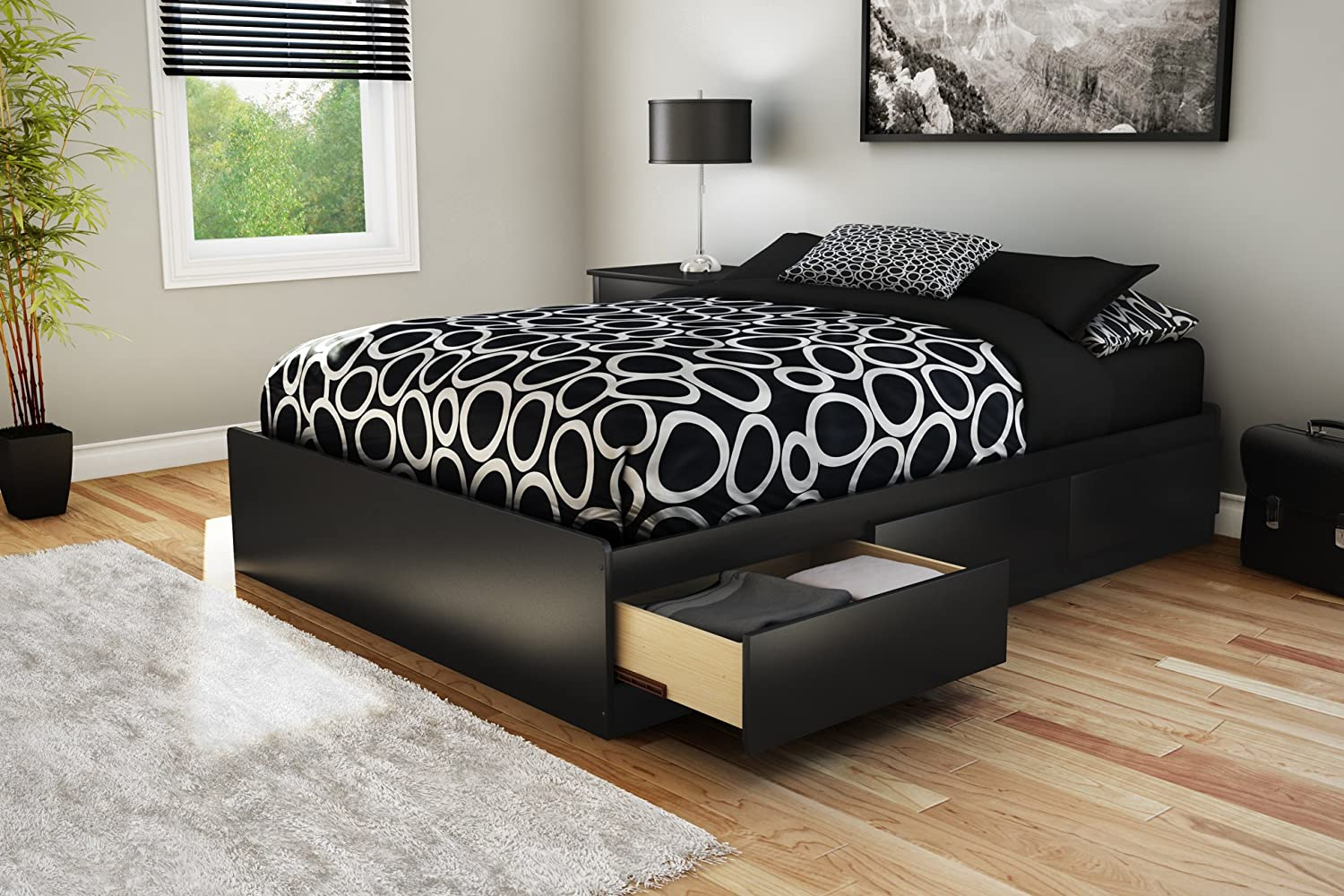 Amazon.com: South Shore Storage Full Bed Collection 54-Inch Full Mates Bed,  Pure Black: Kitchen & Dining - Amazon.com: South Shore Storage Full Bed Collection 54-Inch Full