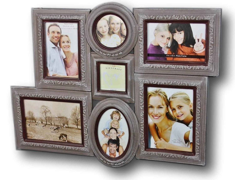 elbmöbel Bilderrahmen Collage braun antik aus Holz, Wand-Rahmen ...