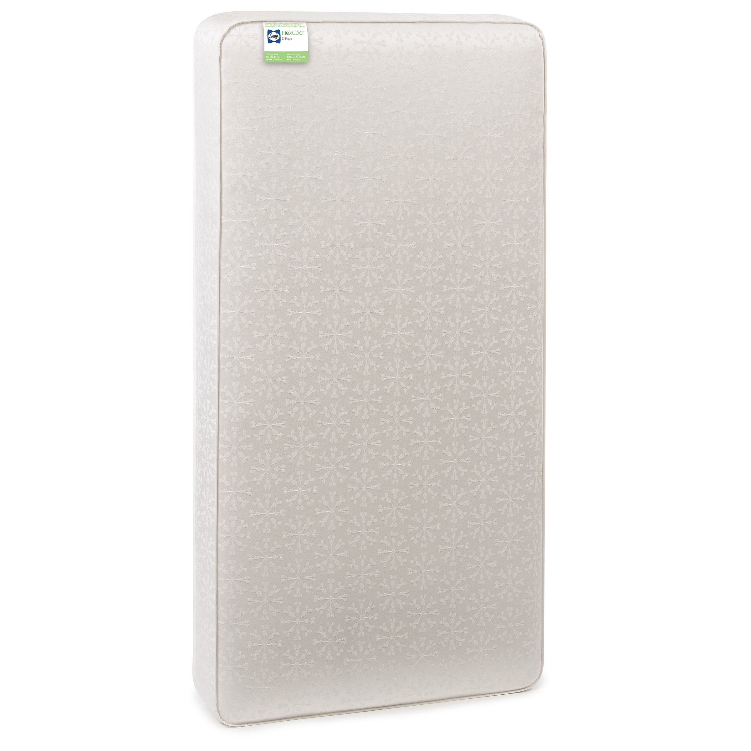 Sealy Flex Cool 2-Stage Waterproof Airy Dual Firmness Toddler & Baby Crib Mattress, 51.7''x 27.3'' by Sealy