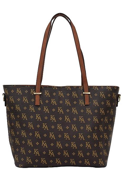 SARA Mujer Bolso de mano, bolsa de hombro, Shopper PU 1711, color, talla XXL: Amazon.es: Zapatos y complementos