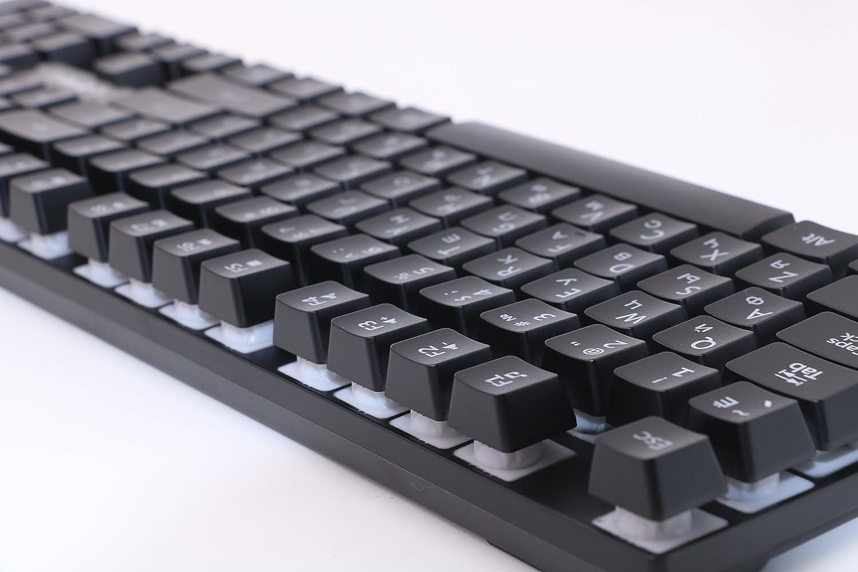 Amazon.com: LOIOG Gaming Keyboard Teclado Gamer Floating LED Backlit USB Similar (English): Computers & Accessories