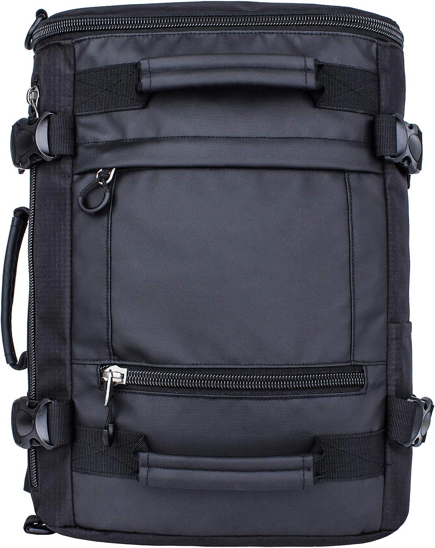 H HIKKER-LINK Mens Convertible Laptop Backpack Travel Daypack Organizer Black