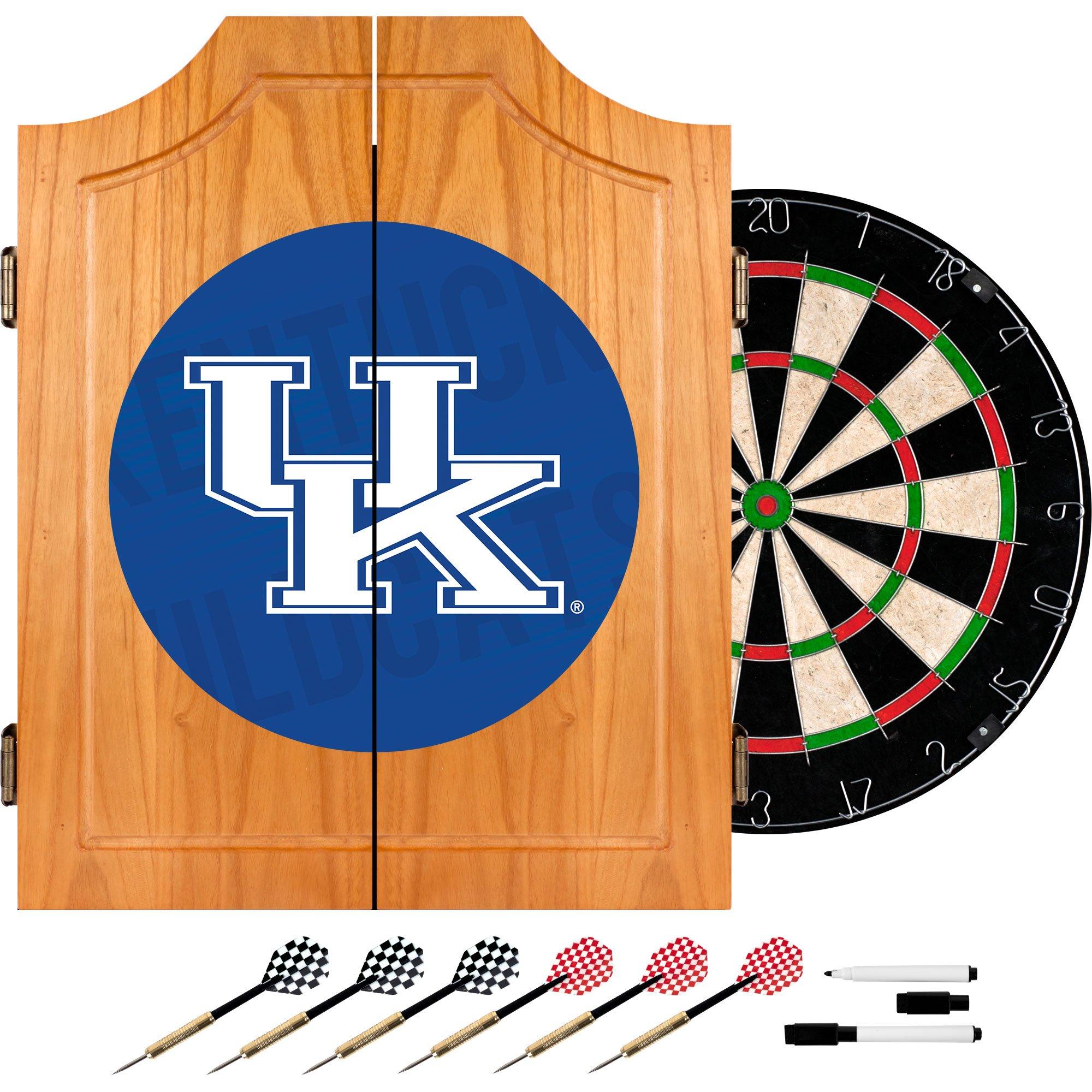 Trademark Gameroom University of Kentucky Wood Dart Cabinet Set - Wordmark
