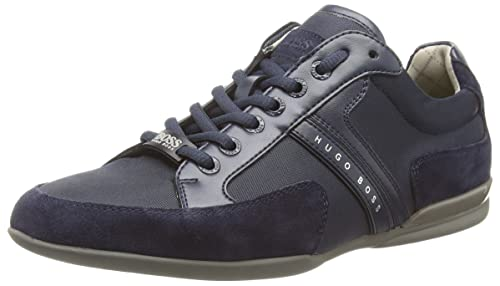 BOSS Green Mens Spacit 10167195 01 LowTop Sneakers Blue Size 40 EU