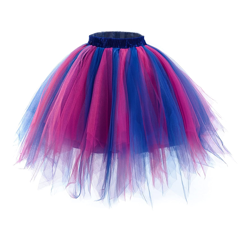AWAYTR Women's Short Ballet Tutu Skirt - Elastic Vintage Petticoat Adult Bubble Skirt B016B4CPSI1
