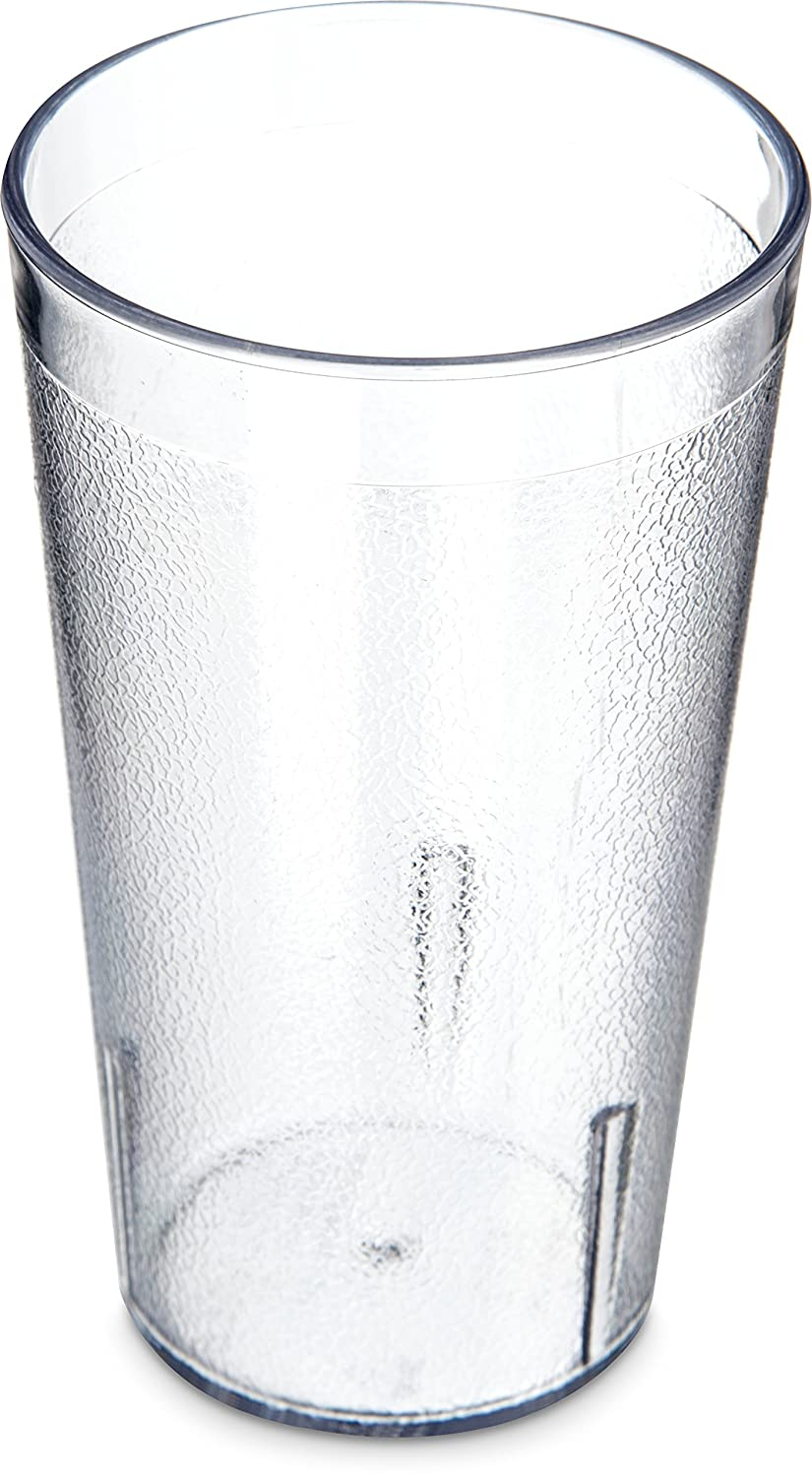 Carlisle 5212-8107 BPA Free Plastic Stackable Tumbler, 12 oz., Clear (Pack of 6)
