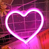 iceagle Heart LED Light Neon Signs Neon Lights for Wall Decor,USB or Battery LED Signs for Bedroom, Decorative Neon Light Sig
