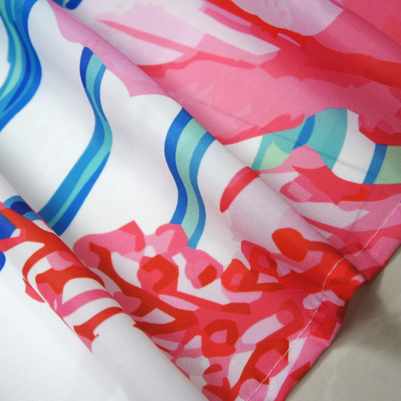 Seepong Tende da Doccia in Bianco e Nero 100/% Impermeabile Resistente alla Muffa Poliestere Resistente Tende da Bagno Decorativa Tende da Bagno di Ancoraggio 12 Ganci per Tende da 180x180cm