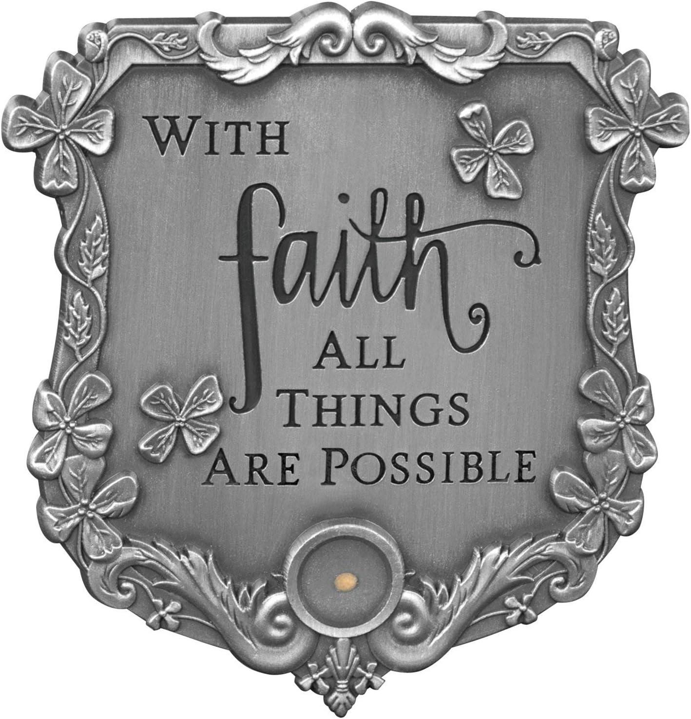 2-1//2 Inches High AngelStar with Faith Visor Clip