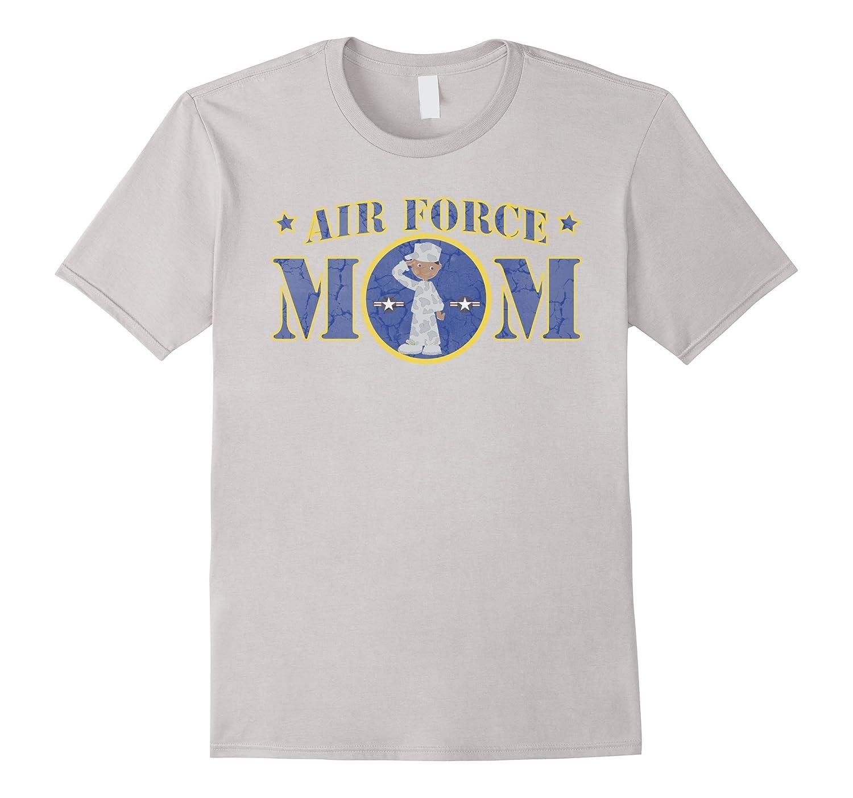 AIR FORCE MOM BLACK MALE AIRMAN MILITARY T-SHIRT-PL