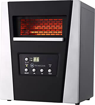 Amazon Com Homegear 1500w Infrared Electric Portable Space Heater