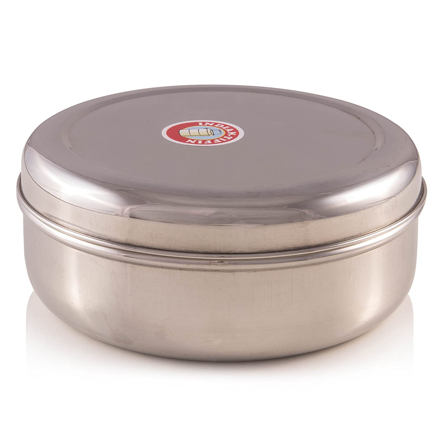 Authentic Indian Large Spice Box With Double Lid 24cm (Masala Dabba) by Indian-Tiffin MDB