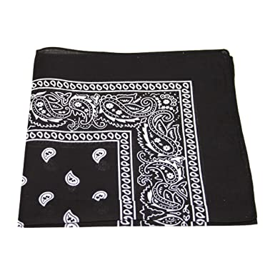UK SELLER  Men s Women s Bandana Head Scarf Neck Scarves Paisley 100 ... 1b26504ce14