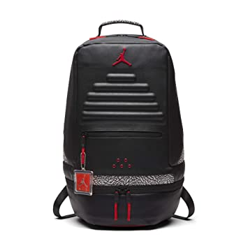5888f45aeed Amazon.com | Nike Air Jordan Retro 3 III Black Cement Grey Backpack Gray Red  88 9A0018 KR5 | Casual Daypacks