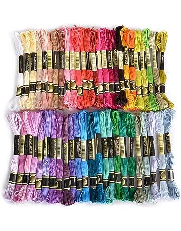 de692c29de89 Lot de 50 échevettes de fil à broder - Assortiments de couleur