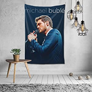 VEDG Michael Buble Tapestry Art Wall Hanging Throw Tapestry Decoration Bedspread Blanket for Living Room Bedroom Dorm Room Home Decor 60x40 inch