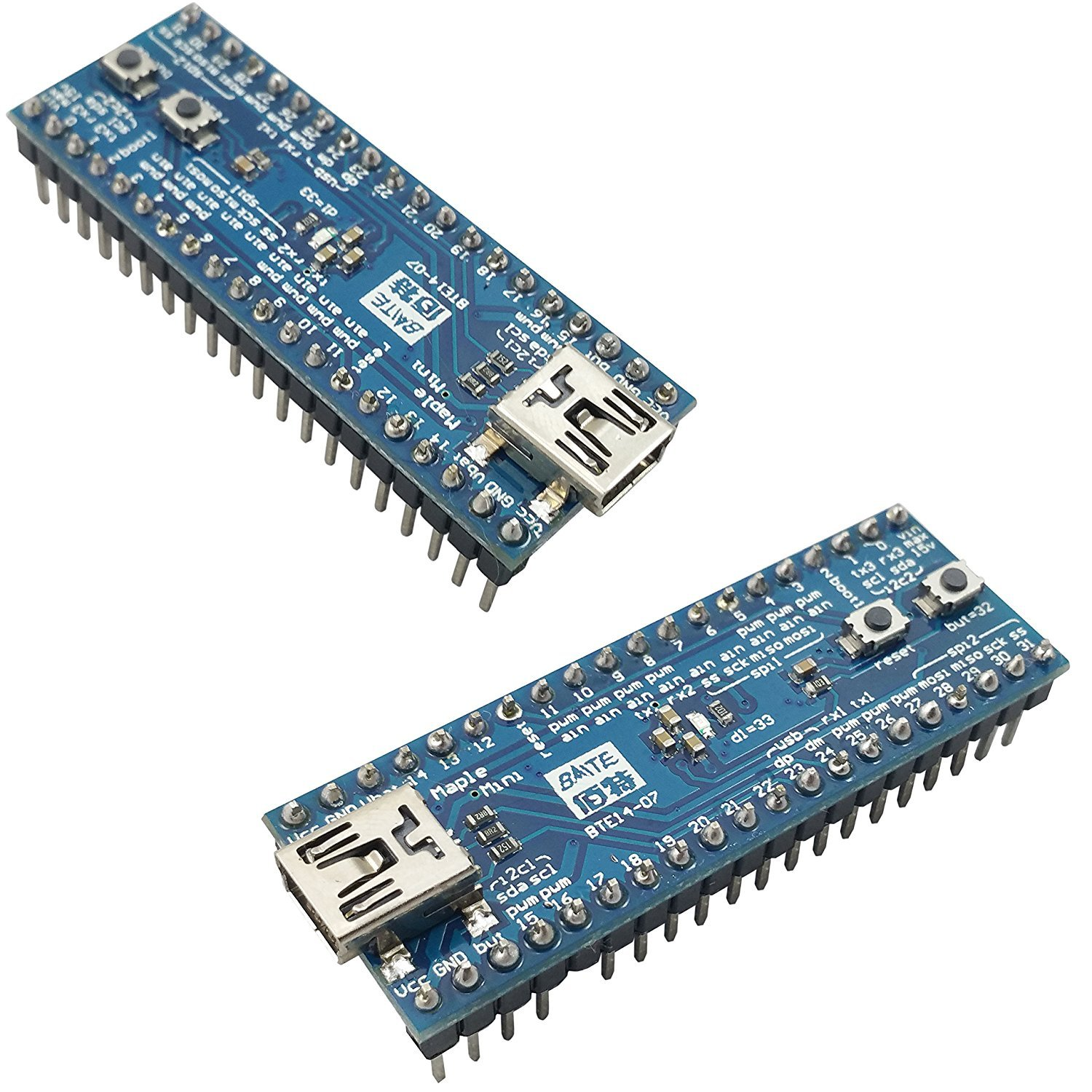 [initeq] 2-Pack Maple Mini STM32F103CBT6 USB-Programmable Development Board  ARM STM32 w/Arduino IDE Compatibility Blue Pill++