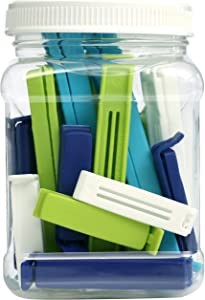 Linden Sweden Twixit! Bag Clips - Set of 26 - Keep Food Fresh, Prevent Spillage - Great for Storage and Organization - Microwave, Freezer and Dishwasher-Safe - BPA-Free