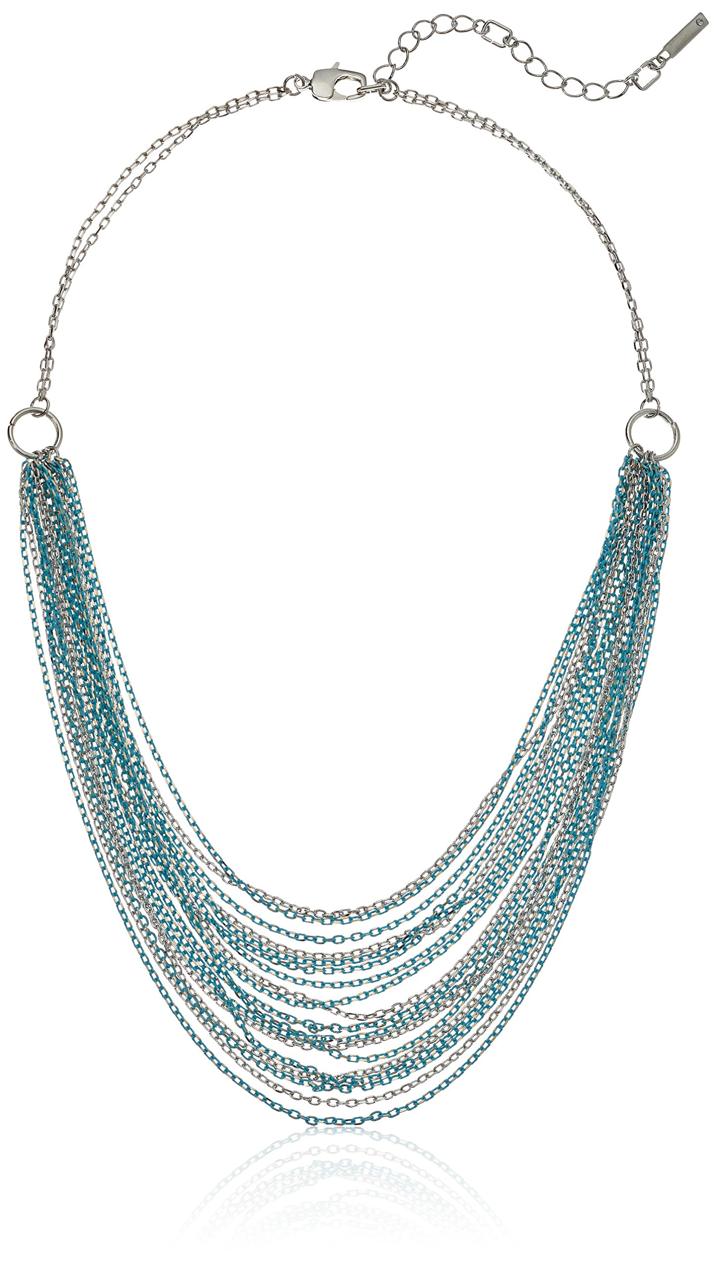 Kenneth Cole New York Women's Short Multi Row Chain Strand Necklace, Aqua, One Size