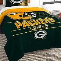 Northwest NFL Green Bay Packers - Juego de edredón y Fundas de Almohada Unisex Draft, Color Verde, Individual