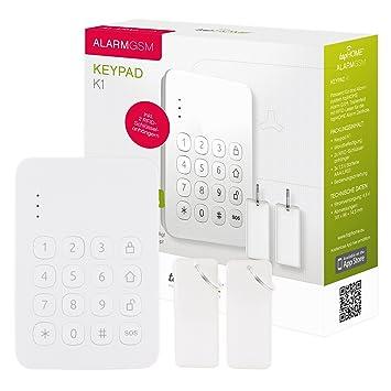 Alarmanlage Keypad - Drahtloses Tastenfeld per Funk zur Steuerung ...