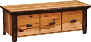 product image for Hickory Log Enclosed Coffee Table with Three Drawers - Standard Finish