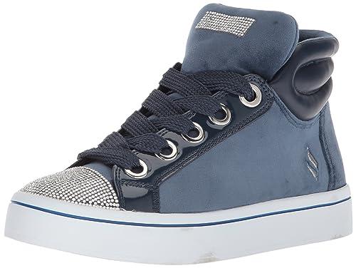 147c8e58b136b Skechers Women's Hi-Lite-Velvet with Rhinestone Sneaker
