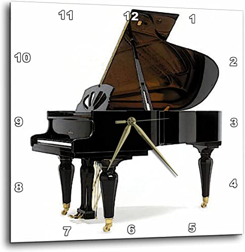 3dRose DPP_4100_3 Grand Piano Wall Clock, 15 by 15-Inch