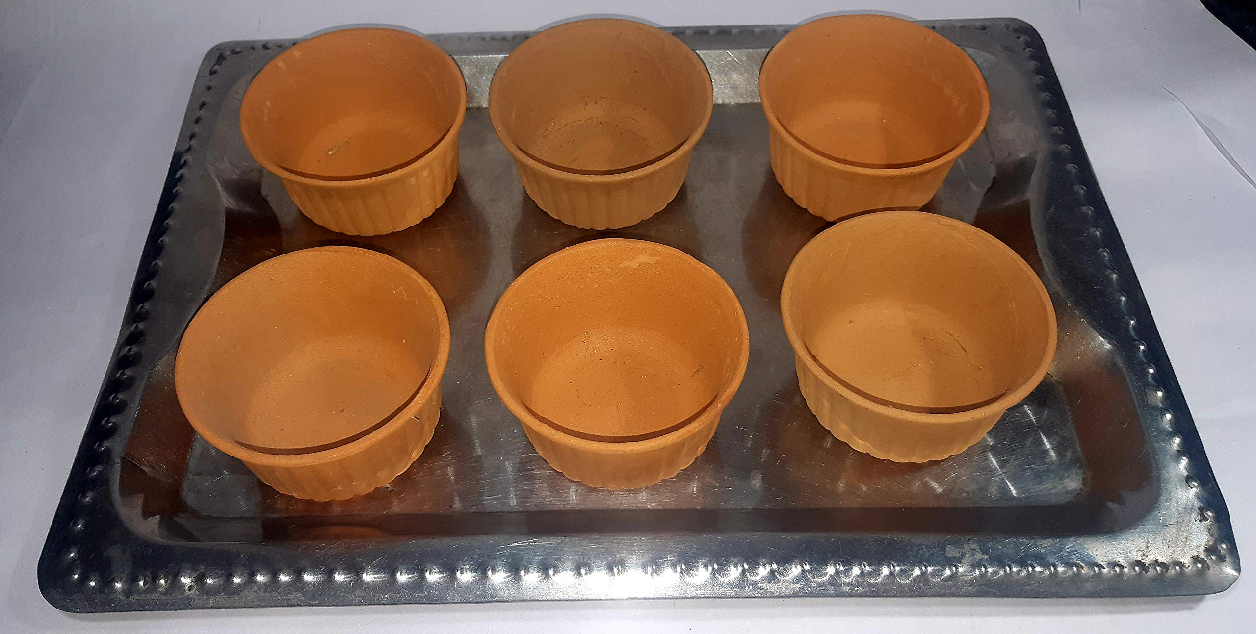 BS NATURAL MITTI Small KATORI/Bowl for Dinner Table/Breakfast/Decoration (Set of SIX)