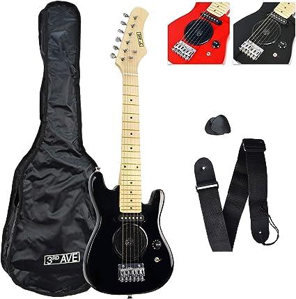 3rd Avenue STX05BK Guitarra eléctrica de 1/4 de tamaño, Negro ...