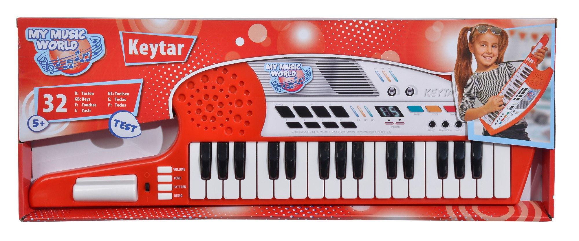 Simba My Music World 106834252 Keytar Keyboard