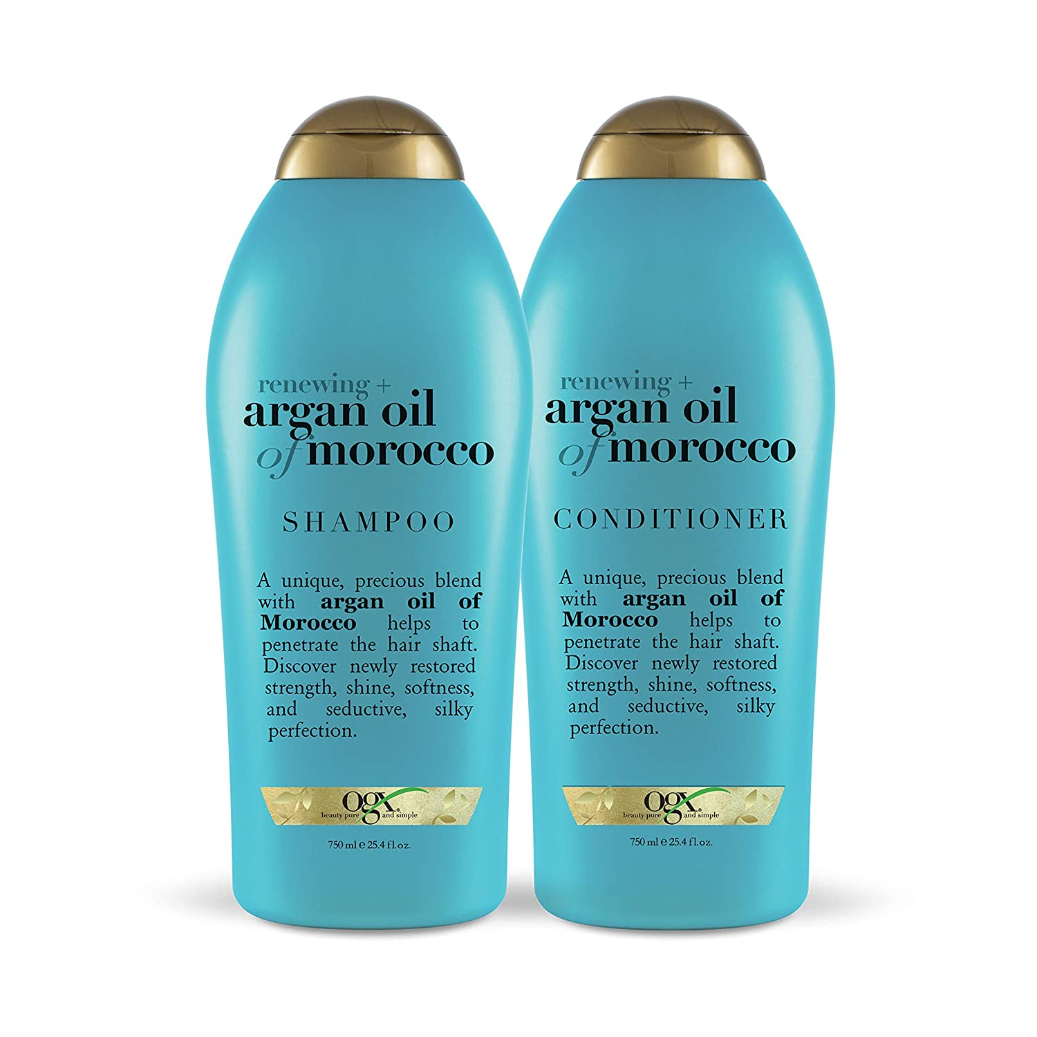 OGX Renewing + Argan Oil of Morocco Shampoo & Conditioner, 25.4 Ounce (Set of 2)