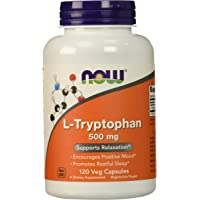 NOW Foods L-Tryptophan 500 mg,120 Veg Capsules