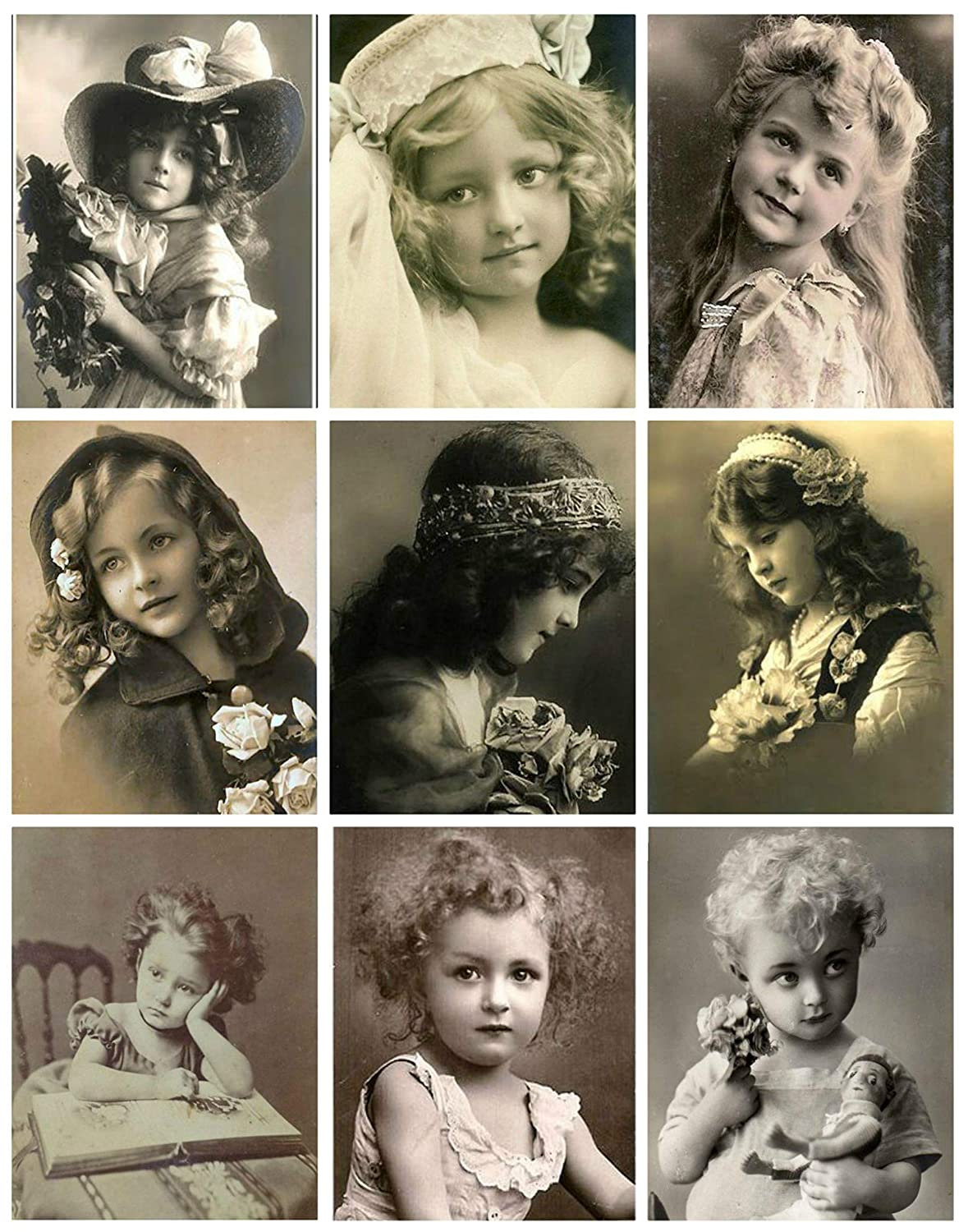 Victorian Children Photo Collage #105 Collage Sheet