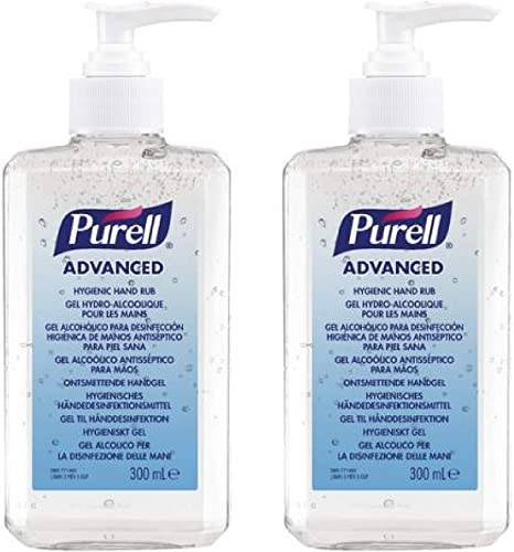 Purell Advanced Hand Sanitizer Gel 300ml Pack Of 2 Amazon Co Uk