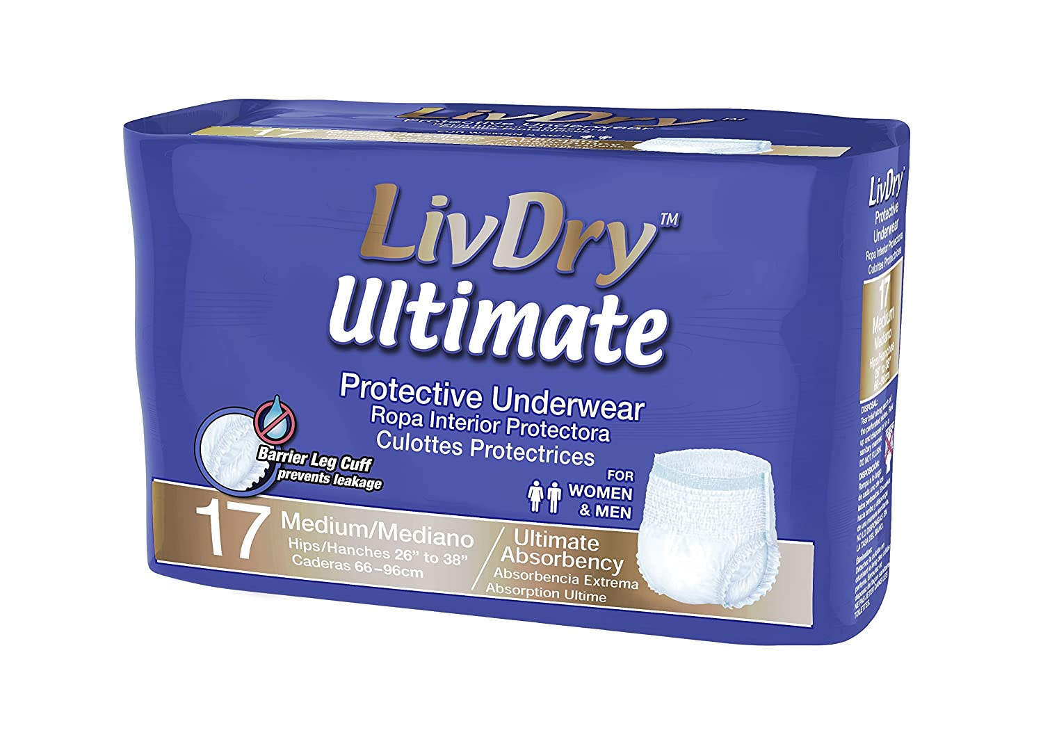 Amazon.com: LivDry | Ultimate Absorbency | Protective Underwear (XXL, 11 Count): Health & Personal Care