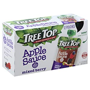 Tree Top Apple Sauce Mixed Berry, 38.4 Oz (Pack Of 12)
