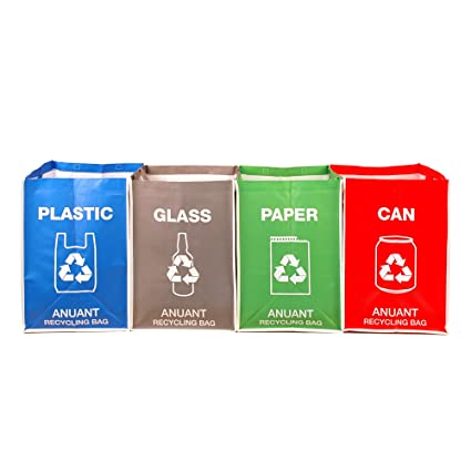 Separate Recycling Waste Bin Bags For Kitchen Office In Home   Recycle  Garbage Trash Sorting Bins