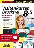 Visitenkarten Druckerei 8.5 inkl. 60 Visitenkarten Papier Gratis- professionelle Visitenkarten gestalten und drucken für Windows 10 / 8.1 / 8 / 7