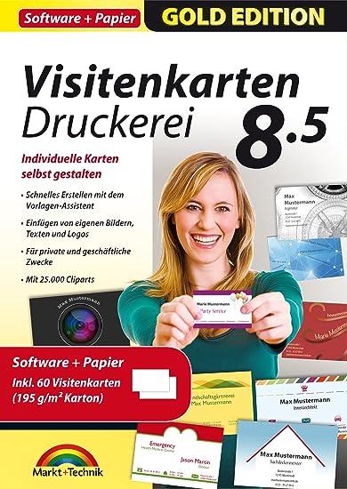 Visitenkarten Druckerei 8 5 Inkl 60 Visitenkarten Papier