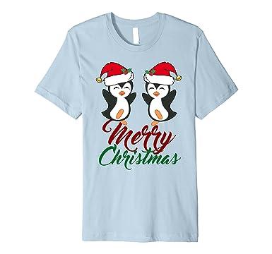 3888d324caa0d Mens Merry Christmas Penguins T-Shirt - Cute Penguin Gift 2XL Baby Blue