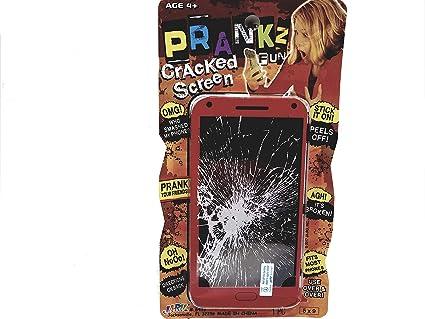 Amazon com: PRANKZ Fake Cell Phone Cracked Screen Prank
