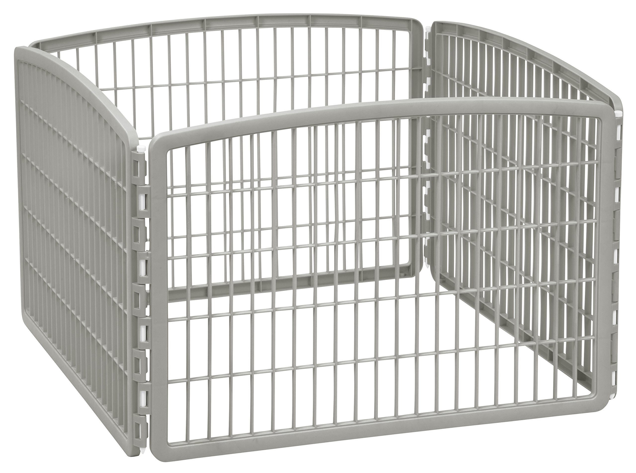 IRIS 24'' Exercise 4-Panel Pet Playpen without Door, Chrome by IRIS USA, Inc.
