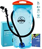 Hydration Bladder 3 Liter Water Reservoir Leak Proof Hydration Pack BPA Free Quick Release Insulated Tube & Shutoff Valve Best Hydration Reservoir for Hiking Cycling Running Biking Climbing