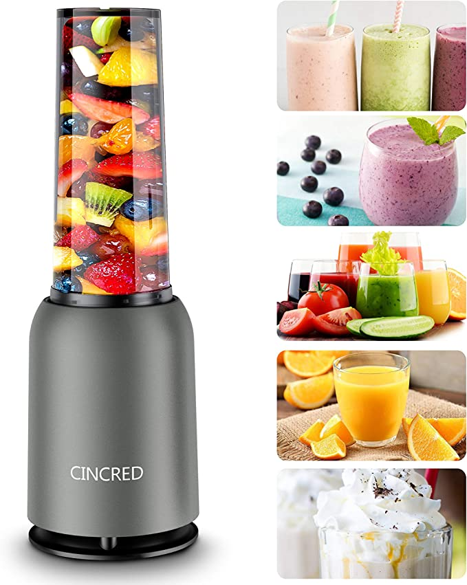 Amazon.com: [Updated 2020 Version] Personal Countertop Blender for Milkshake, Fruit Vegetables Drinks, Smoothie, Small Mini Portable Food Blenders Processor Shake Mixer Maker with with 1 * 400ML Travel Cup: Kitchen & Dining